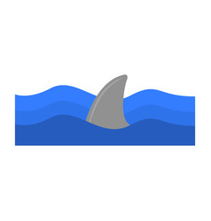 Isolated sharp fin vector