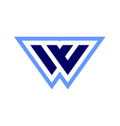 letter w logo concept icon vector image