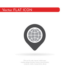 location icon pin sign vector image