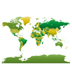 map of world vector image