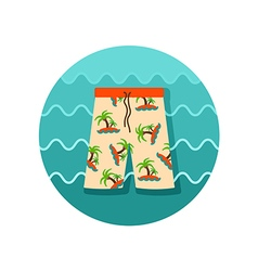 Men Beach Shorts icon Summer Vacation vector
