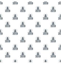minimal christmas tree pattern seamless vector image
