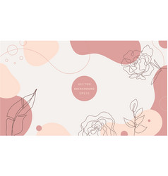 Nature background design minimalist vector