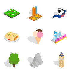 New impression icons set isometric style vector