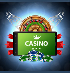 online casino concept vector image