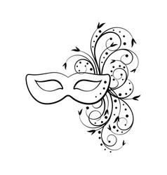 Outline of carnival mask vector