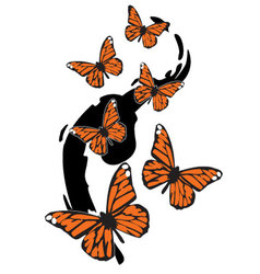 Painted-butterflies vector