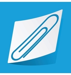 Paperclip sticker vector image