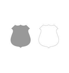 police badge grey set icon vector image