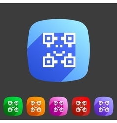 Qr code icon flat web sign symbol logo label vector image vector image