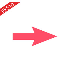 red 3d arrows shiny web icons vector image
