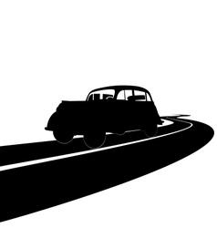 Retro car vector
