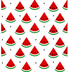 seamless background of watermelon vector image