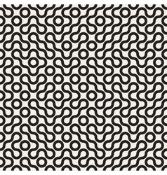 Seamless Black and White Rounded Line vector image