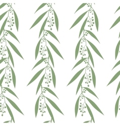 Seamless pattern branches of eucalyptus vector