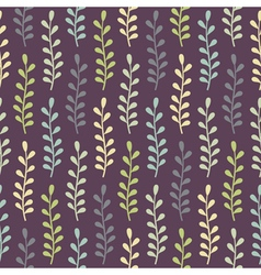 Seamless pattern with multicolored plants vector