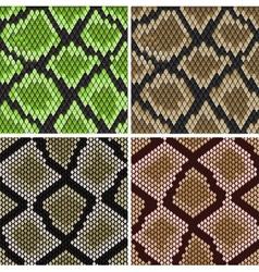 seamless snake skin patterns vector image