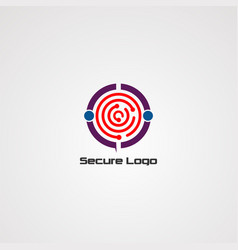 secure logo icon element and template for company vector image