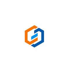 shape polygon business company logo vector image