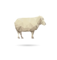 Sheep isolated on a white backgrounds vector image