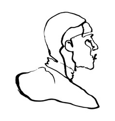 sketchy single line drawing a man figure from vector image