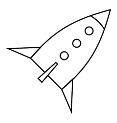 Space rocket for fly icon outline style vector image