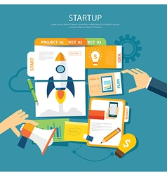 startup concept flat design vector image