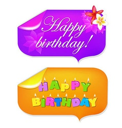 Sticker Happy Birthday vector image