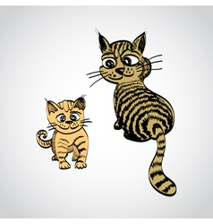 tabcats vector image