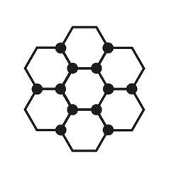 The molecule icon Atom and chemistry dna vector