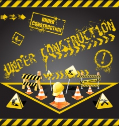 under construction warning vector image