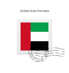 United Arab Emirates Flag Postage Stamp vector