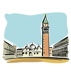 Venice St Mark Square vector