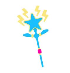 wand icon fantasy world of the unicorn cartoon vector image