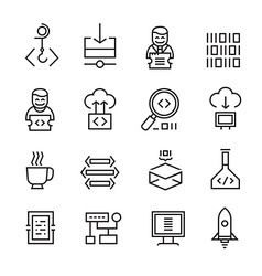 Web Development and Seo Icons vector image