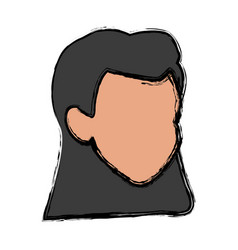 Woman head avatar cartoon female icon vector