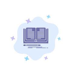 Writing novel book story blue icon on abstract vector