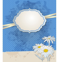 blue vintage background vector image vector image