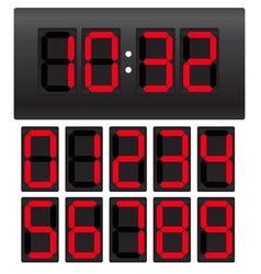 Digital clock template vector image vector image
