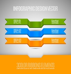 elements for business report Three banners as vector image
