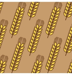 Seamless pattern of wheat ears vector image vector image