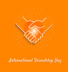 banner friendship day vector image vector image