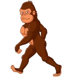 Cartoon Sasquatch walking vector image