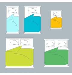 Colorful Bedding and Linen Set vector image