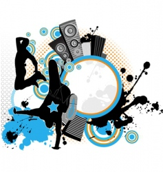 dancing youth men music city vector image vector image