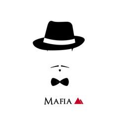 italian mafioso face on white background vector image