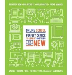 Online School Education Design Concept vector image vector image