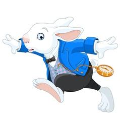 Running White Rabbit vector image