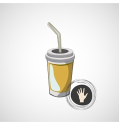 sketch of cardboard glasses with drink vector image