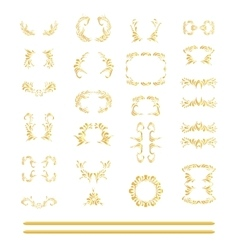 set of gold elements vector image
